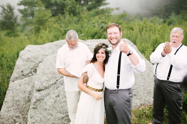 North Carolina intimate foggy wedding