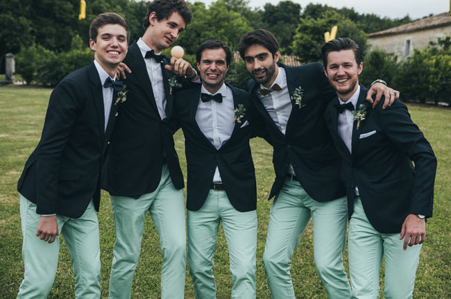 mint pant groomsmen