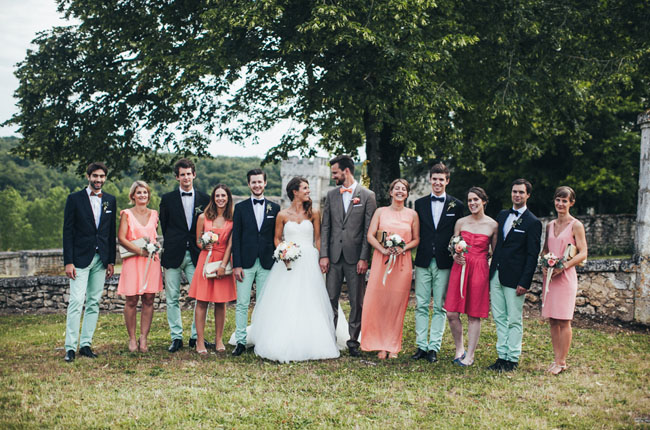 French wedding party