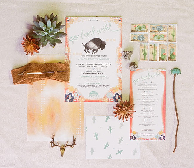 rustic western invitation