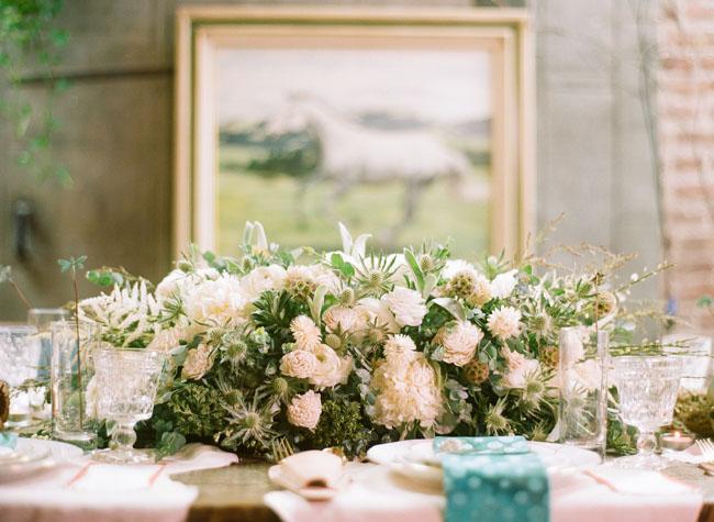 rustic western floral centerpiece
