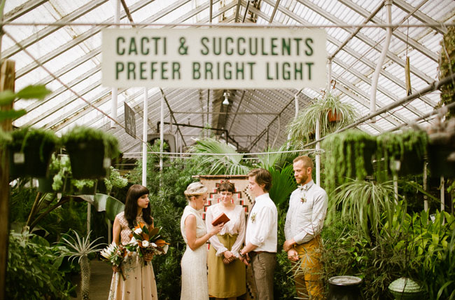 greenhouse elopement ceremony