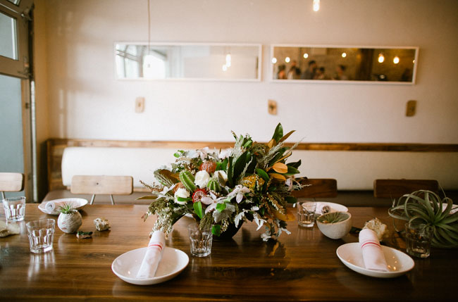 modern intimate dinner