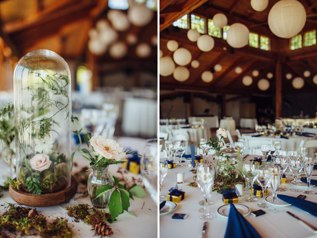 glass dome floral centerpieces