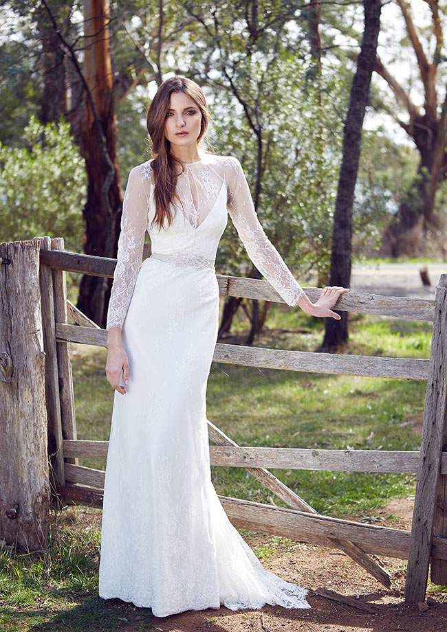 French Lace Wedding Dress With Sleeves Lace Sleeved Wedding Dress