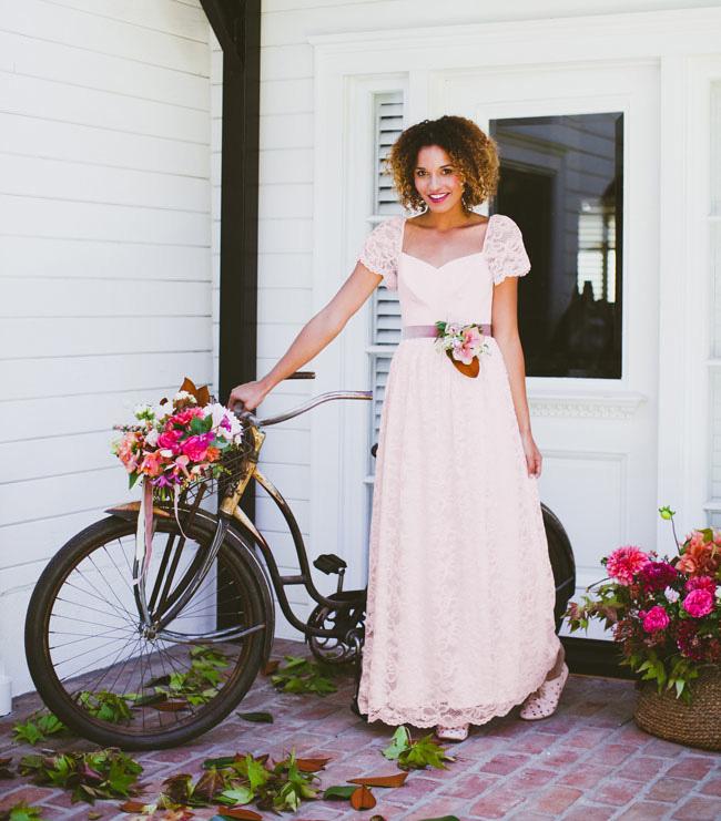 lace blush gown