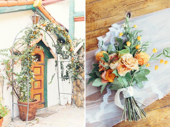 mediterranean flower arch