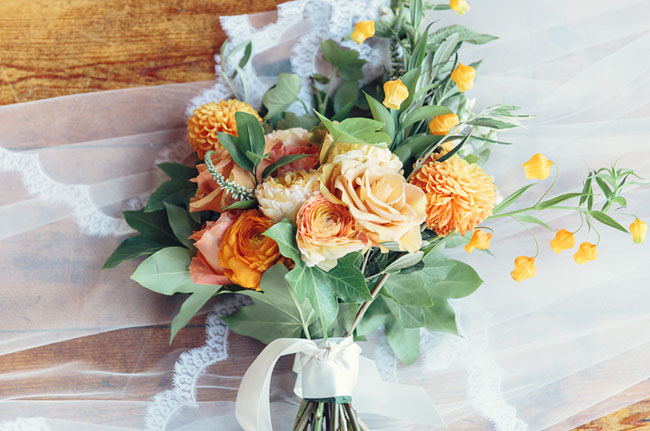 mediterranean orange bouquet