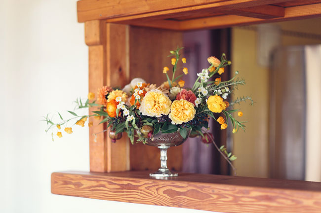 orange floral arrangement