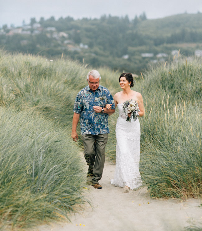 Oregon ocean wedding
