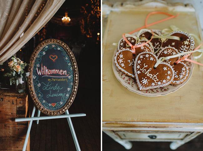 Oktoberfest wedding sign
