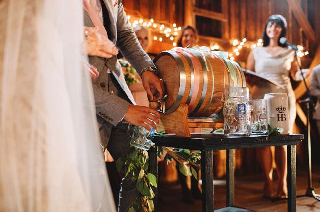 Oktoberfest barn wedding