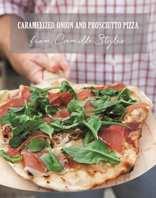 Onion Prosciutto Pizza
