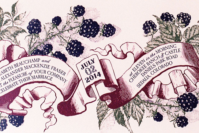 berry scroll invitation