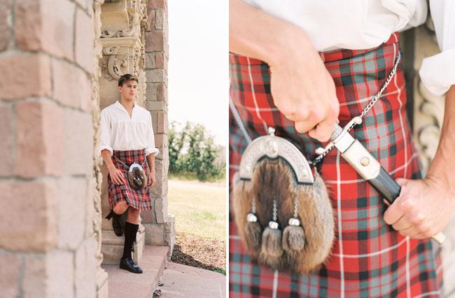 Outlander inspired groom