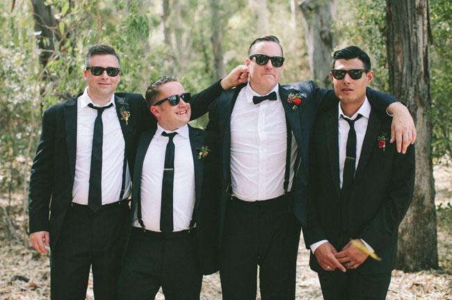 black suit groomsmen