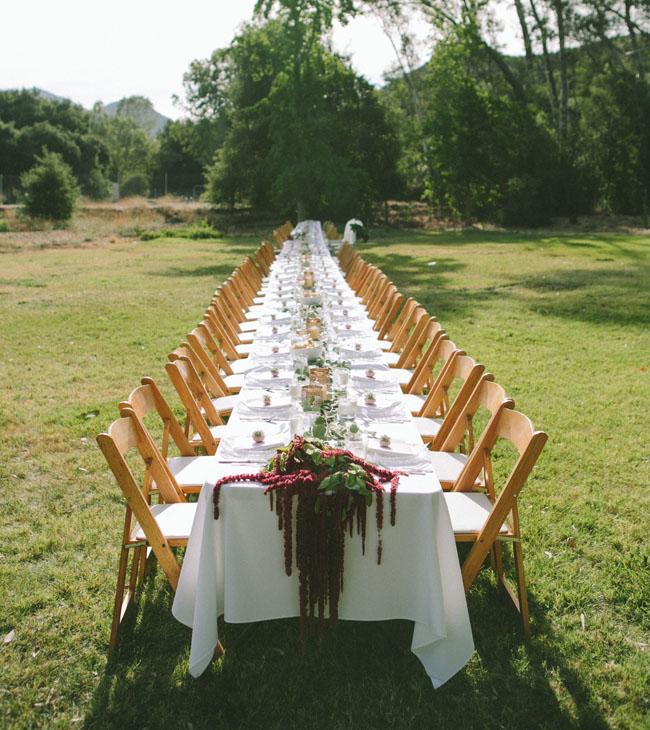 long farm table dinner