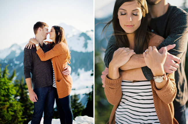 snow capped engagement