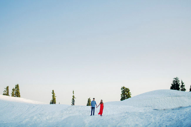 snow mountain engagement