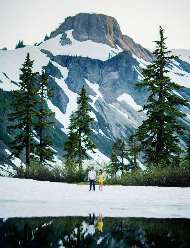 snow mountain engagement