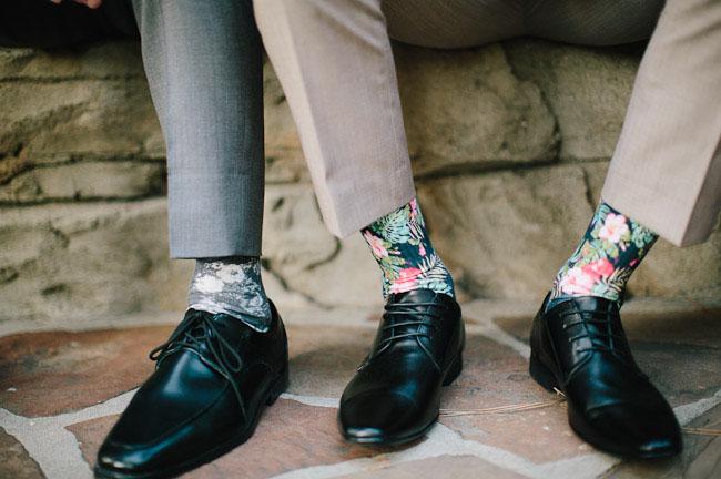 floral socks