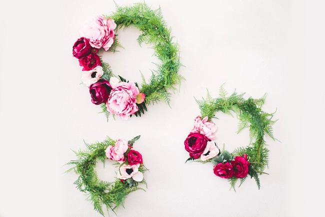 Diy silk flower wreath mightylinksfo