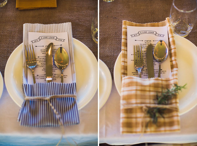 pattern napkin silverware holders