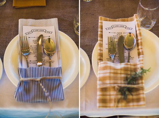 pattern napkin silverware holders