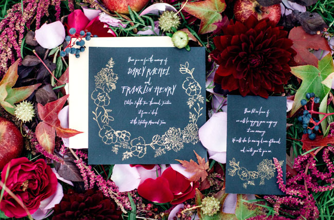 sleepy hollow black invitation
