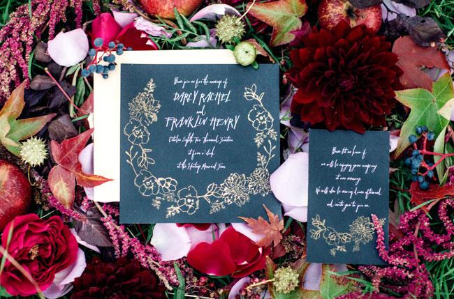 sleepy hollow black invitation