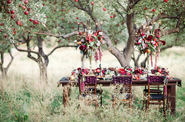 sleepy hollow inspired tablescape