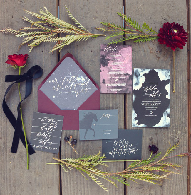 sleepy hollow inspired invitation