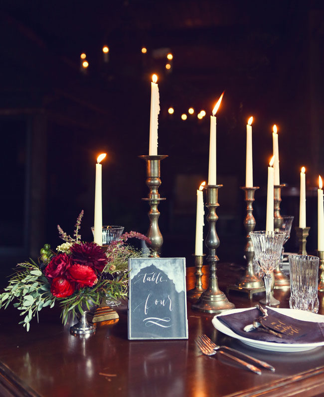 skinny candlestick decor