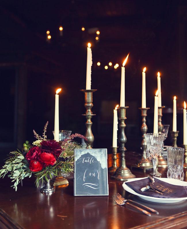 skinny candlestick decor