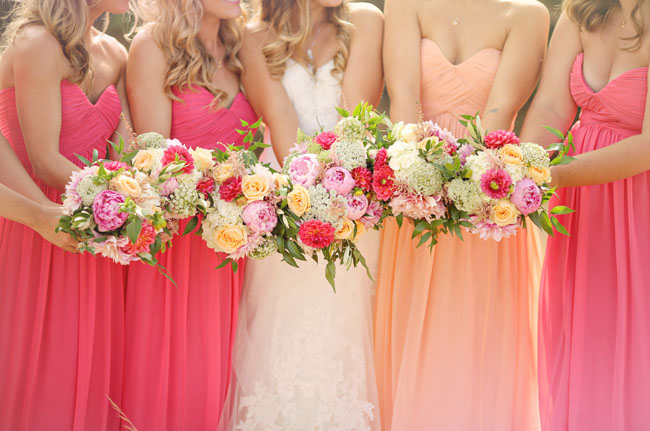 rustic pink bouquets