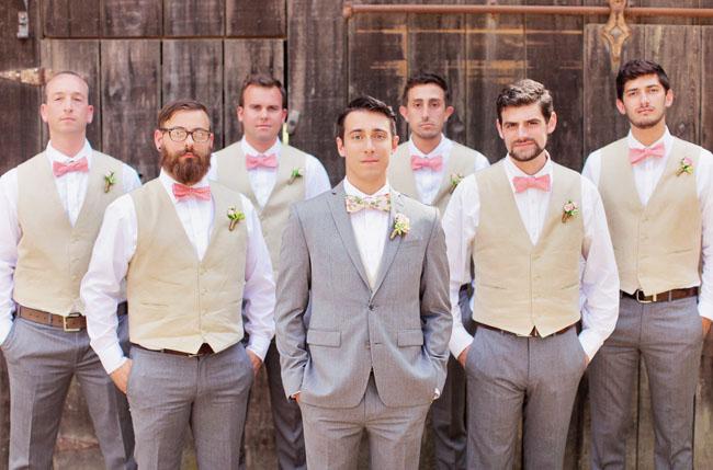 tan vest groomsmen