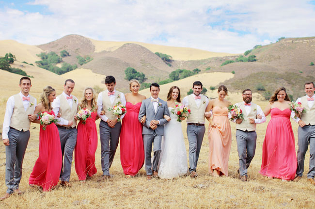 La Cuesta Ranch wedding party