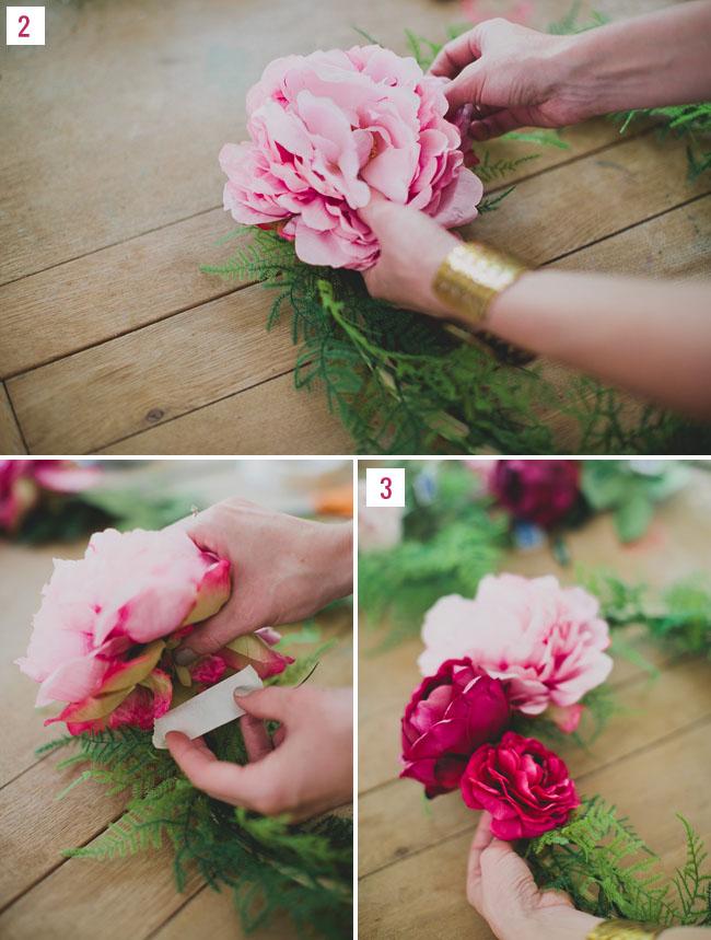 DIY Silk Flower Wreath