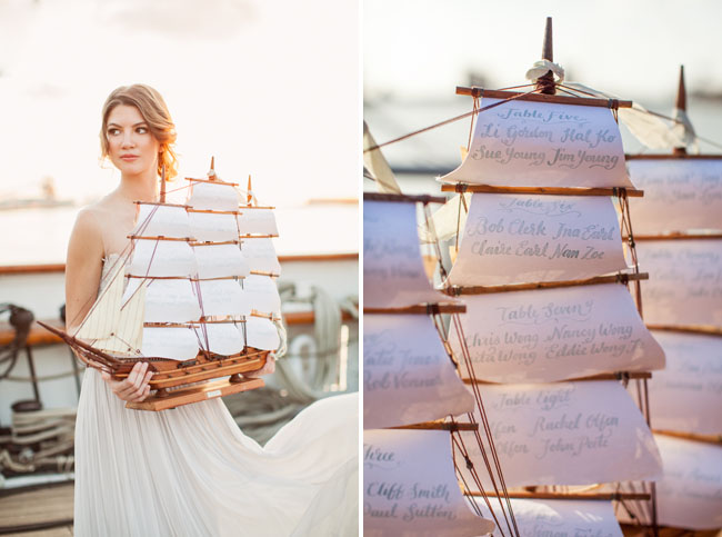 sail ship escort cards