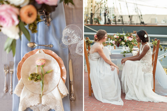 bridal inspiration on ship