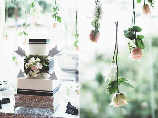 hanging flower backdrop