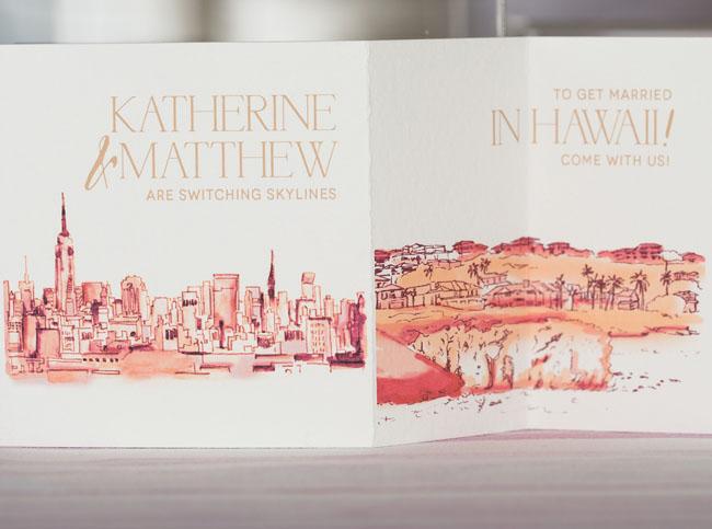 illustrative watercolor invitation