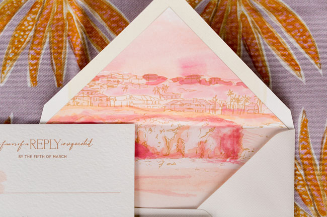 illustrative watercolor invitation