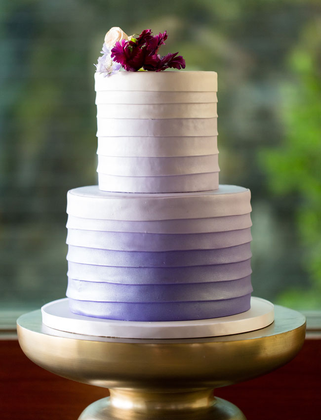 purple ombre layered cake