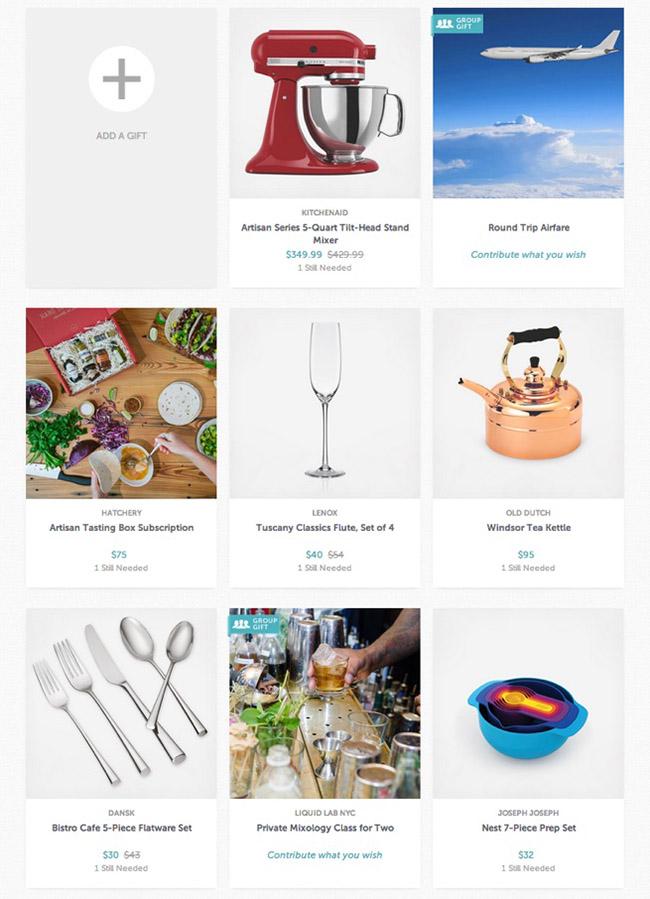 Wedding Gift List Price Range : your Wedding Registry with Zola Green Wedding Shoes Weddings ...