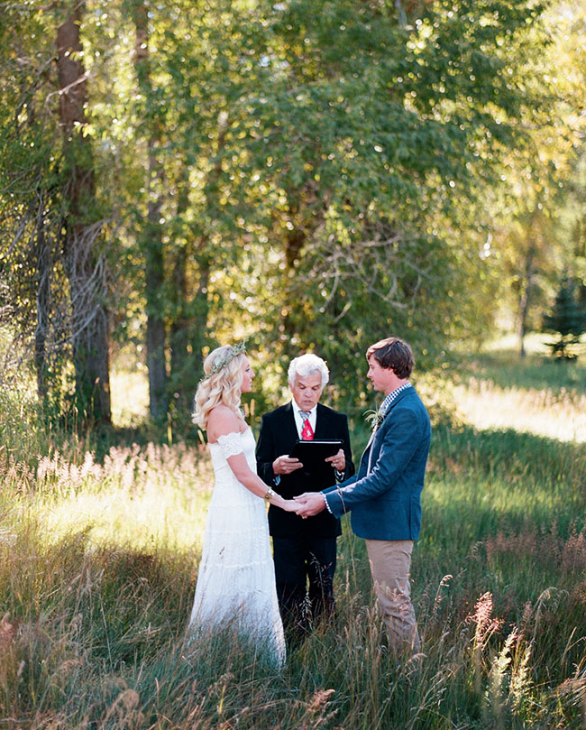 Aspen elopement ceremony