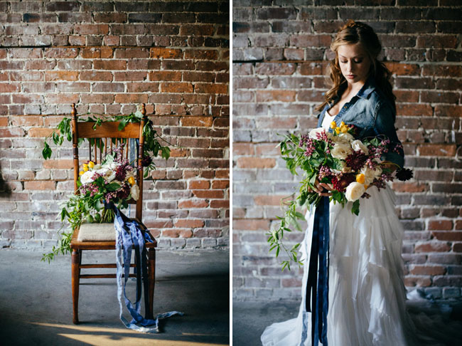 blue chambray bride