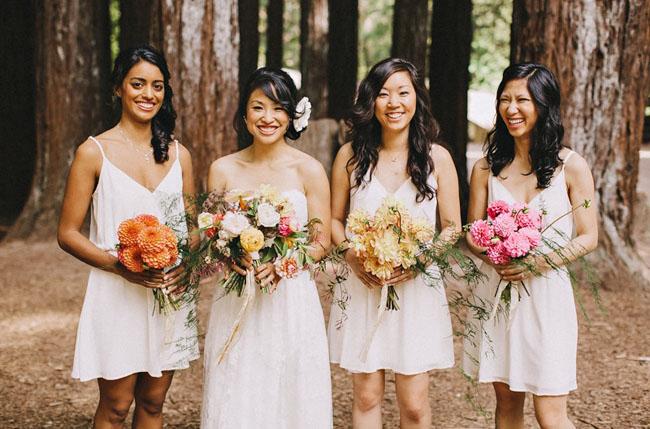 different bouquet bridesmaids