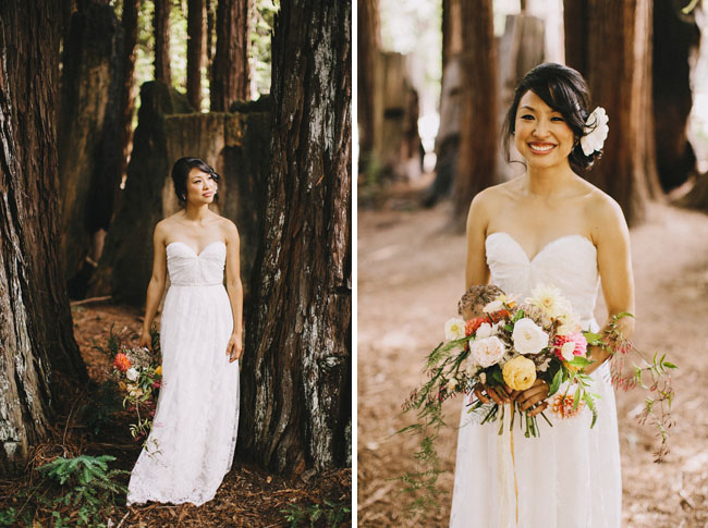 woodland camp bride