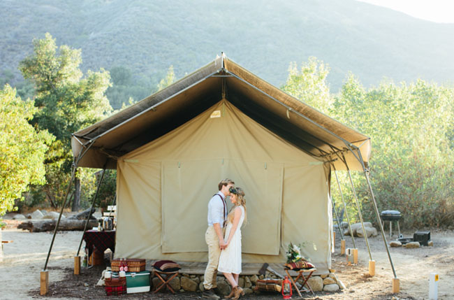 camping elopement shoot